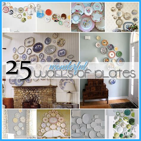 wonderful walls  plates diy projects  cottage market