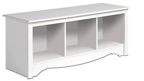 white prepac large cubbie bench storage usd date