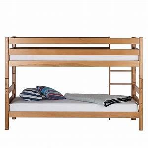 Kinderbett Doppelbett : etagenbett massivholz buce natur lackiert doppelbett ~ Pilothousefishingboats.com Haus und Dekorationen