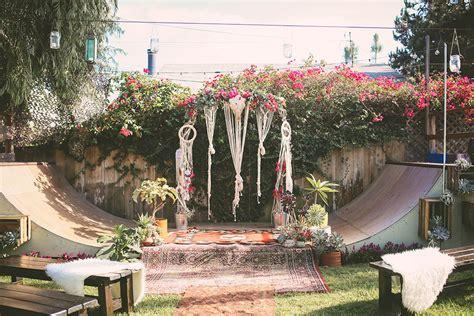 bohemian backyard storyboard wedding part 22