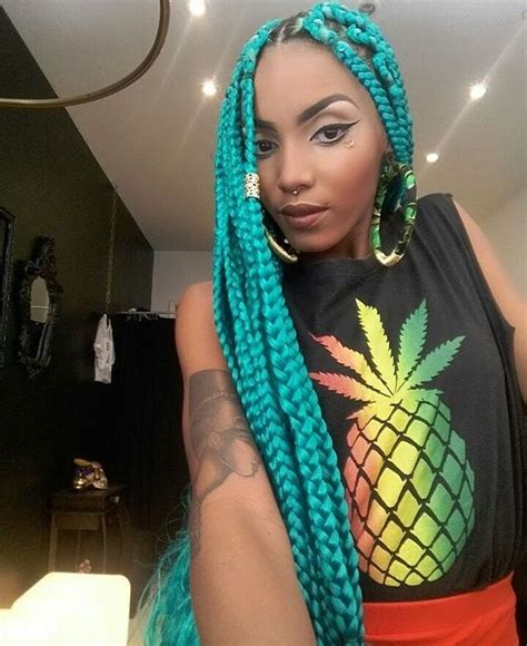 colorful braiding hair 16 colorful box braids to inspire your next protective