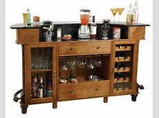 Furniture Solid Wood Liquor Cabinet Bar Wine Storage Rack