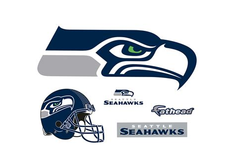 seattle seahawks logo wall decal shop fathead