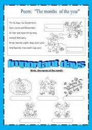 months of the year worksheet by maestralidia
