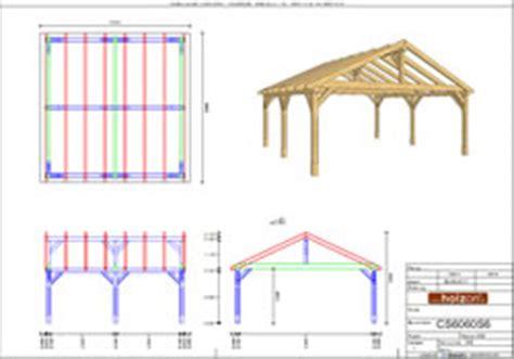 Satteldach Carport Aus Holz Mit Bauplan
