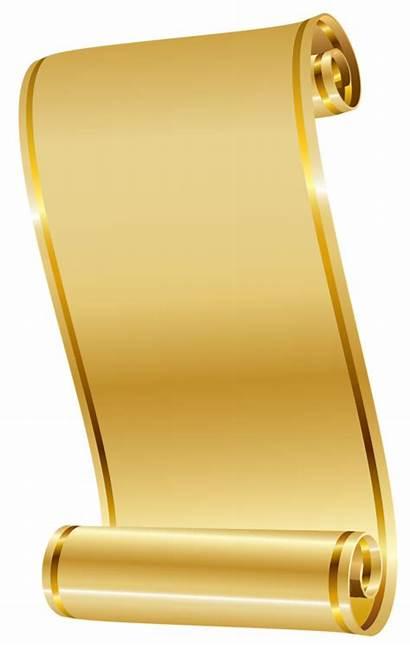 Scroll Gold Clipart Transparent Webstockreview Scrolls Paper