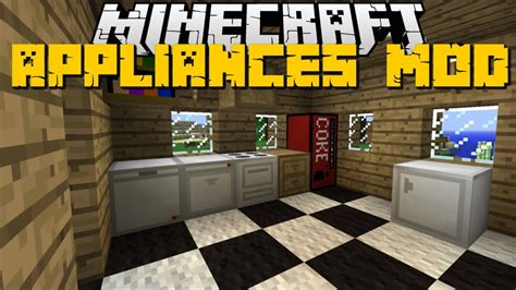 minecraft kitchen appliances mod fridge furniture