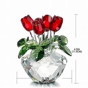 Rose In Glas : crystal glass roses ~ Frokenaadalensverden.com Haus und Dekorationen