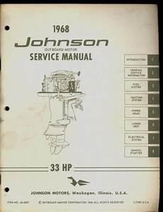 1968 Johnson Outboard Motor 33 Hp Service Manual