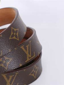 Louis Vuitton - Monogram Canvas Gold Buckle Belt 100 ...