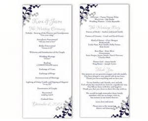 funeral program ideas wedding program template diy editable word file instant