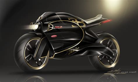 A subtle point is that both engine and pedal power use the variable ratios already provided on the bicycle, probably by an epicyclic hub. Bugatti concept bike ''black bess'' edition on Behance