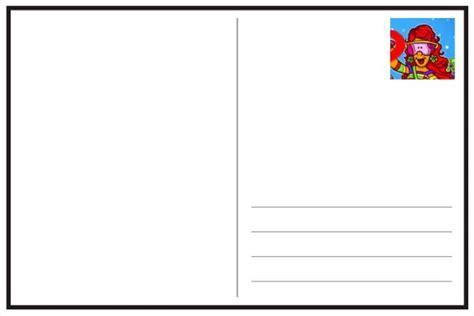 Postcard Template Free Printable And 39 S Kyra887