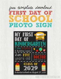 back to school sign template and tutorial With first day of school sign template