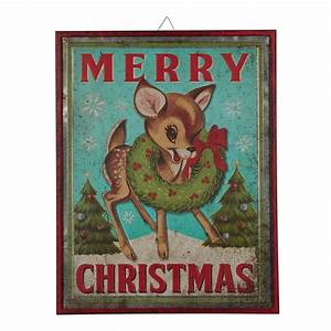Holiday, Time, Iron, Merry, Christmas, Reindeer, Hanging, Sign, Decoration, 18, U0026quot, X, 23, U0026quot
