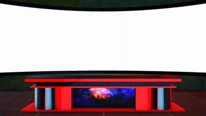 Desk Screen Studio Tv 4k Background Virtual