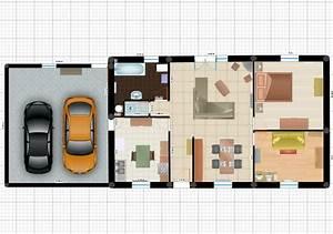 plain pied separation espace parents enfants 22 messages With plan maison en l 100m2 8 plan pour maison plain pied entre 100 et 110m2 370
