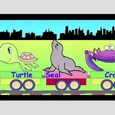Learn Sea Animal Train  Learning Animals Video For Kids Youtube