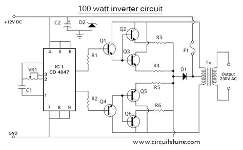 Watt Inverter Schematic Diagram Volt