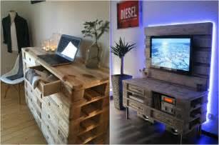 Meuble Exterieur En Palette De Bois meuble en palette int 233 rieur et ext 233 rieur 40 nouvelles