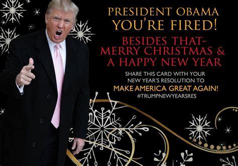 trump donald christmas word card president admits says plans obama santa