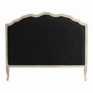 Tete De Lit Lin : t te de lit 160 en lin noir ombelline maisons du monde ~ Melissatoandfro.com Idées de Décoration