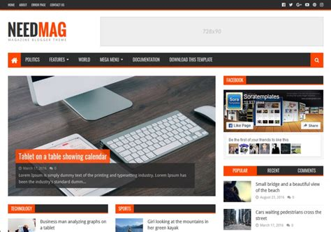 Need Mag Blogger Template • Blogspot Templates 2019