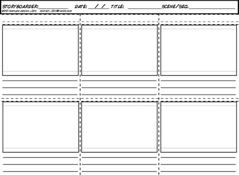 storyboard template le story board
