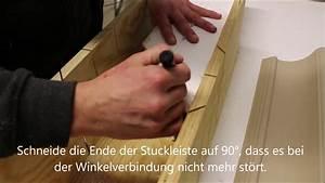 Styropor Schneiden Eigenbau : stuckleisten aus styropor selber auf 45 grad schneiden verkleidung der vorhangschiene youtube ~ A.2002-acura-tl-radio.info Haus und Dekorationen