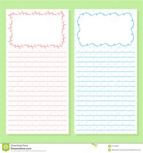 notepad templates  doodle frames stock vector