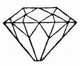 Diamond Coloring Minecraft Gem Printable Ring Line Drawing Shape Shapes Clipart Getcolorings Clipartmag sketch template