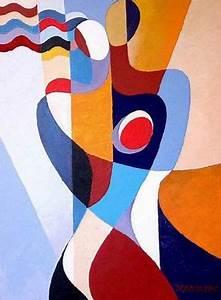 Tableau Peinture Moderne : tableau cubiste peinture contemporaine peintures art moderne ~ Teatrodelosmanantiales.com Idées de Décoration
