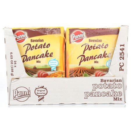 1 pkg panni potato pancake mix 6.6 oz size. Panni Bavarian Potato Pancake Dry Mix, 6.63 oz - Walmart.com