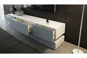 Meuble tv design blanc 178 cm trendymobiliercom for Attractive meuble salon noir et blanc 1 meuble tv design blanc 178 cm trendymobilier