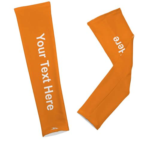 printed arm sleeves personalized solid color goneforaruncom