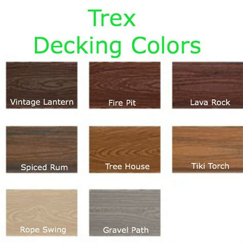 Azek Decking Color Options by Trex Decking Colors 55
