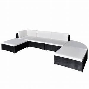 Polyrattan Lounge Set : vidaxl 16 piece garden lounge set black poly rattan ~ Whattoseeinmadrid.com Haus und Dekorationen