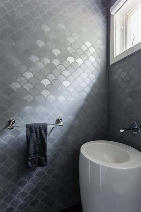Bathroom Tile Feature Ideas by 38 Beautiful Fish Scale Tile Bathroom Ideas Futurist