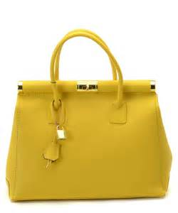Yellow Leather Handbags Sale