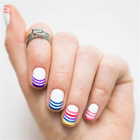 Rainbow French Manicure How To