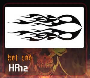 Tribal Flame Stencils
