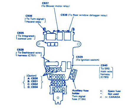 1989 Honda Accord Engine Diagram by Honda Accord 1991 Engine Fuse Box Block Circuit