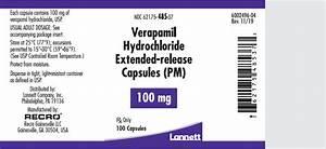 DailyMed - VERAPAMIL HYDROCHLORIDE- verapamil hydrochloride capsule, extended release Verapamil Extended-release