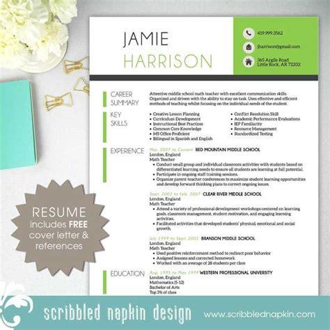 teacher resume template resume   cover letter