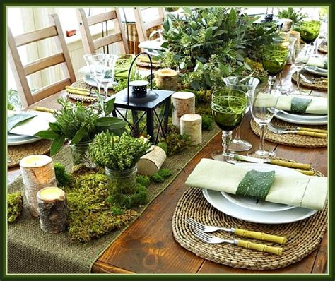 rustic table setting rustic christmas tablescapes images
