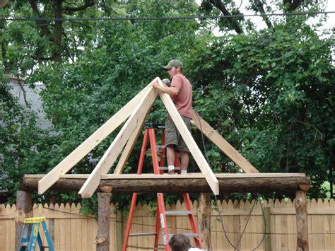 tiki hut plans tiki hut roof in progress backyard tiki bar pinterest tiki hut tiki bars and bar