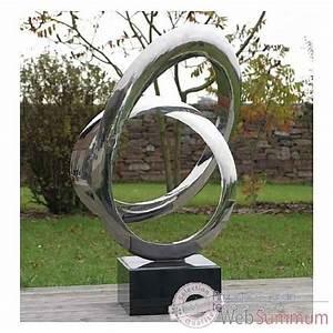 Statue Deco Jardin Exterieur : sculpture aluminium dans sculpture jardin et terrasse sur ambiance jardin terrasses ~ Teatrodelosmanantiales.com Idées de Décoration