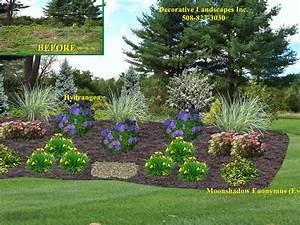 Front yard landscape design madecorative landscapes inc for Front yard slope landscaping ideas
