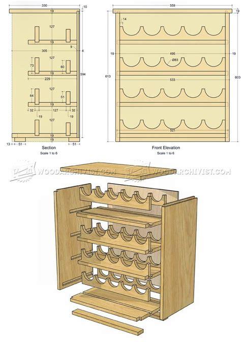 wine rack plans furniture plans woodworking plans home