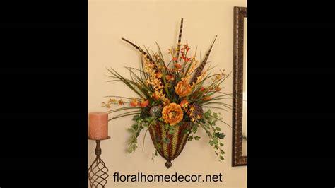 wall flower arrangements silk flower arrangements wall sconces 3309